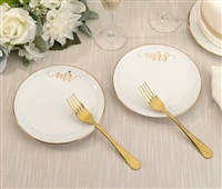 MR. AND MRS. PLATE & FORKS