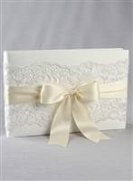 CH LACE GUEST BOOK IVORY