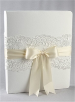 CH LACE MEMORY BOOK IVORY
