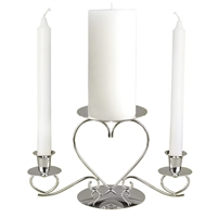 CANDLE HOLDER HEART 1 PC SLV