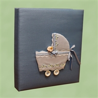 BABY BOOK BLUE CARRIAGE